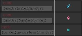 gendercodes
