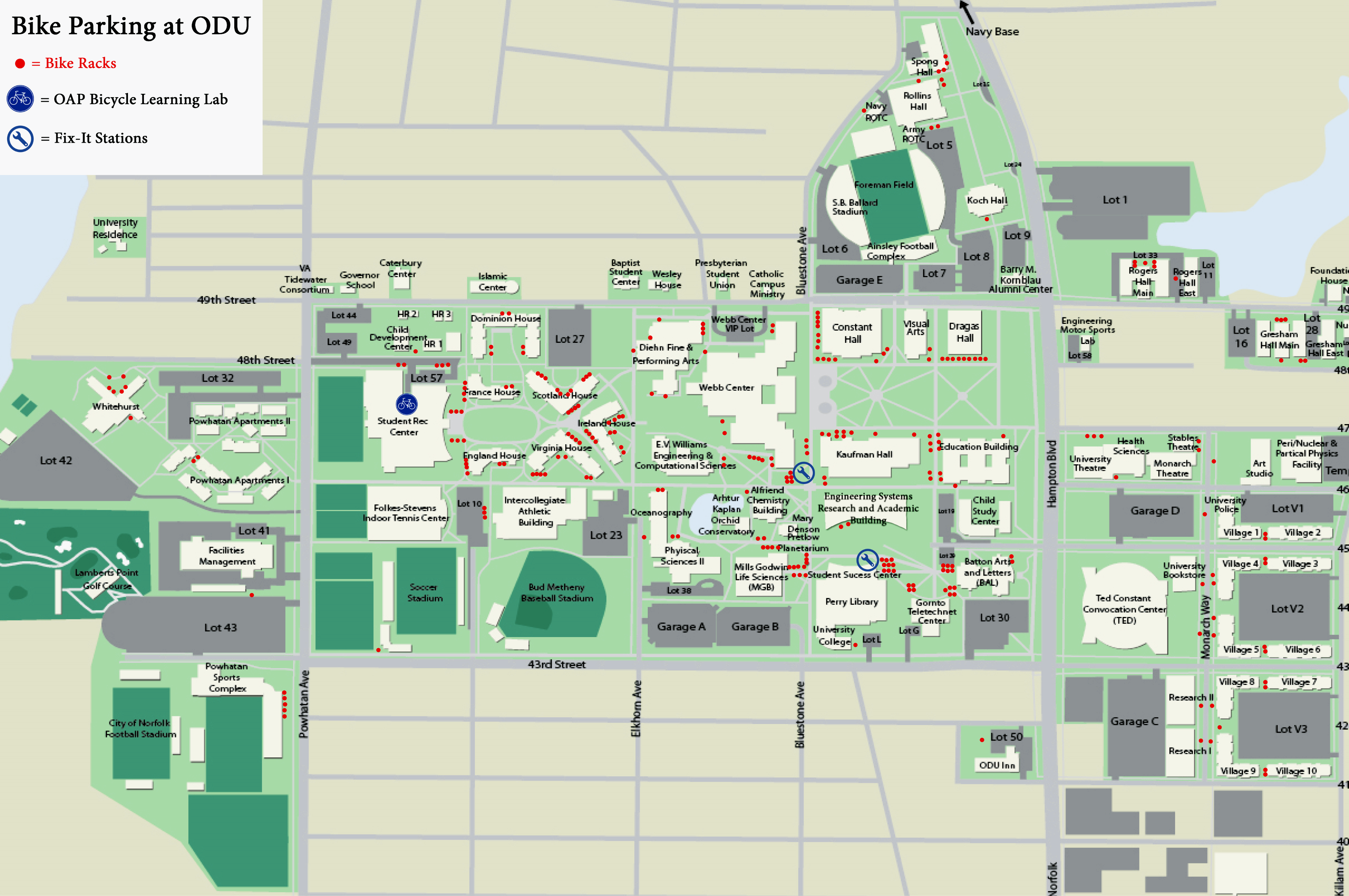 Old Dominion Campus Map.Old Dominion University Campus Map Www Picsbud Com