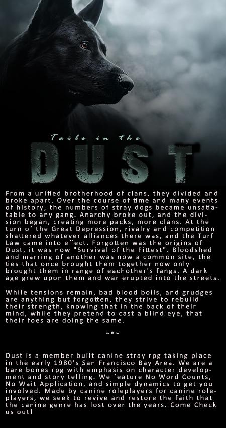 Dust: NEW urban stray dog rpg ADD